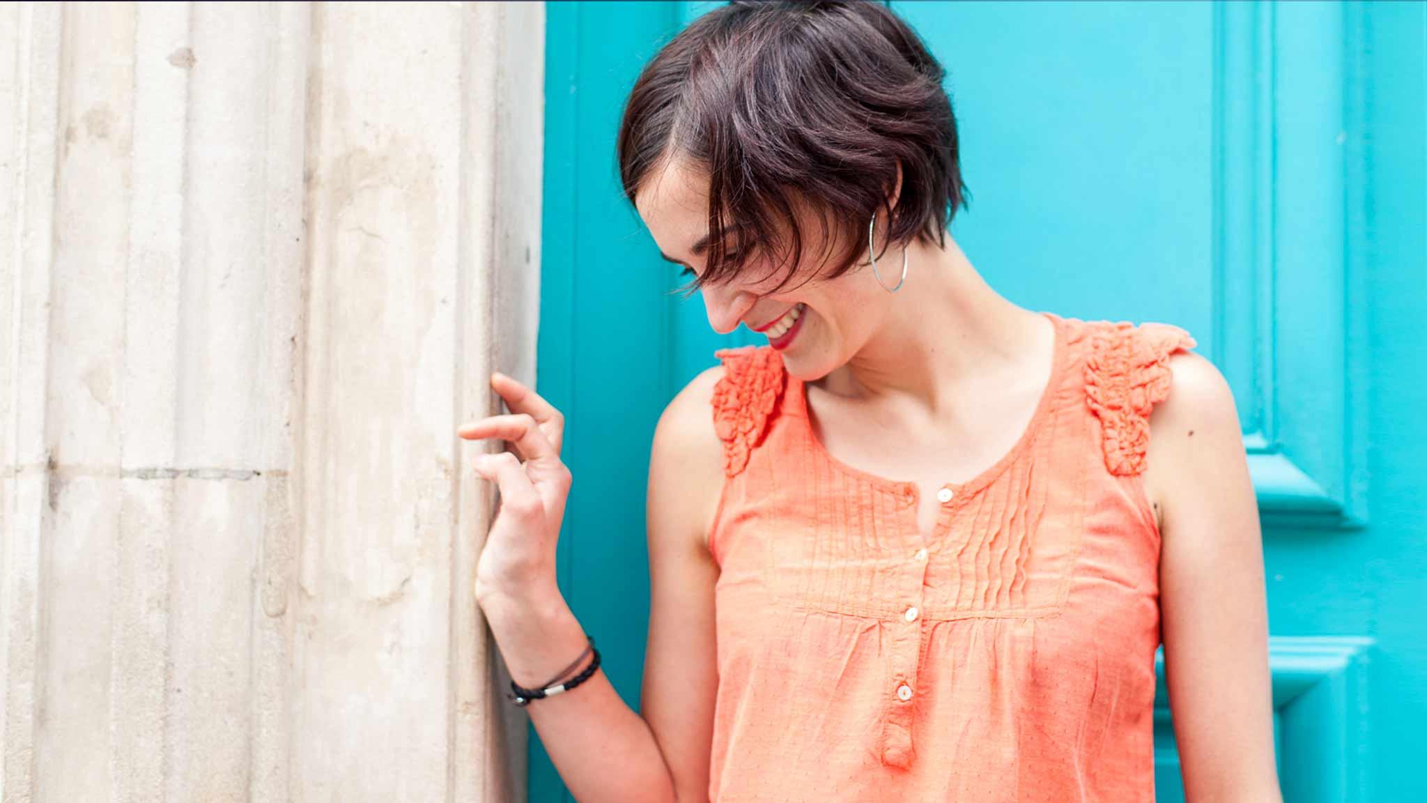 photographe portrait book smiling couleurs orange cyan bonheur sourire nancy