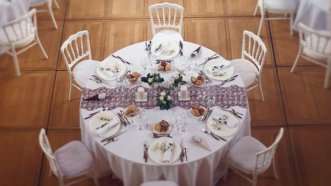 Déco des tables, Abbaye des Prémontrés