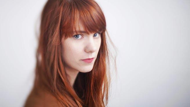 Redhead, blue eyes